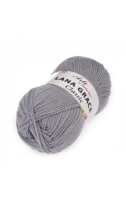 Пряжа LANA GRACE Classic (0813, светлые сумерки) 75% акрил супер софт, 25% мериносовая шерсть, 100гр