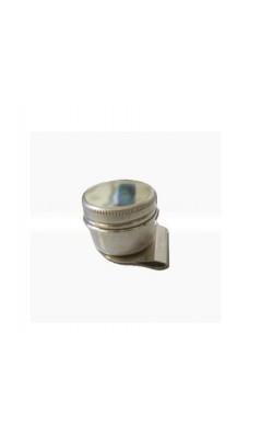 Масленка одинарная, металлическая с крышкой, форма - цилиндр, d 4см