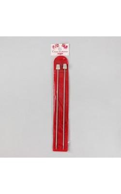 Спицы для вязания прямые ,сталь с пластиковым наконечником, 20см d=2,5мм (2шт)