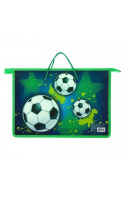 "Папка ""Calligrata"" Футбол, с ручками, А4, 335*235*55 мм, пластик"