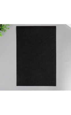 Фетр жёсткий, 2 мм, А4, чёрный, 1 л