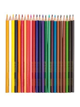 """Карандаши цветные Гамма """"Мультики"""", 24цв., трехгранные, заточенный., картон, европодвес"""