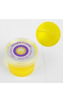"Слайм ""Стекло"" желтого цвета 100 гр. в банке"
