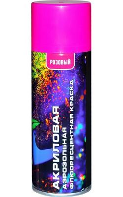 Акриловая краска флюоресцентная VESLEE, розовый, 400 мл