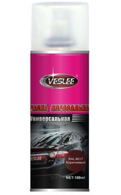 Акриловая краска VESLEE, коричневый RAL 8017, 100 мл