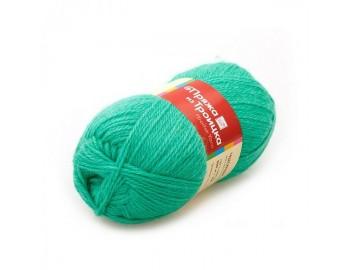 Пряжа Чистая шерсть (0753, зеленая бирюза)100% шерсть, 100 гр., 250 м.