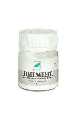 """Пигмент """"ЭМТИ"""", белила цинковые, 30 гр"""