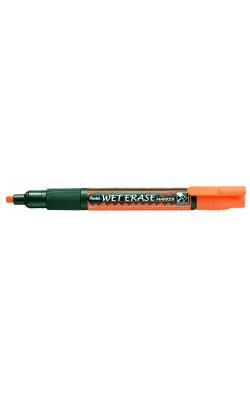 """Маркер на водной основе """"Pentel"""" Wet Erase Marker, двусторонний пишущий узел, 2/4 мм, оранжевый"""