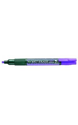 """Маркер на водной основе """"Pentel"""" Wet Erase Marker, двусторонний пишущий узел, 2/4 мм, фиолетовый"""