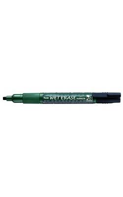 """Маркер на водной основе """"Pentel"""" Wet Erase Marker, двусторонний пишущий узел, 2/4 мм, чёрный"""