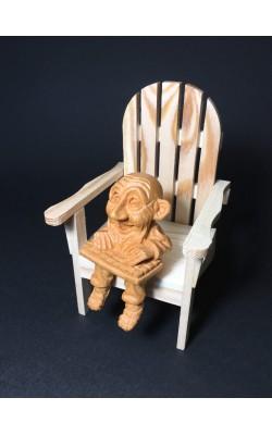 "Гномик сидячий ""Сисадмин"", 8 см, кедр"