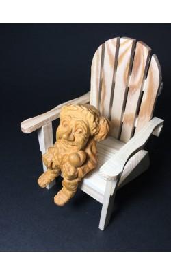 """Гномик сидячий """"Влюбленный"""", 8 см, кедр"""