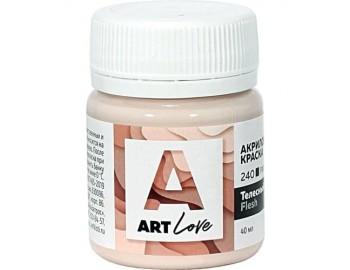 """Акриловая краска """"Альбатрос"""" Art love, телесный, 40 мл"""