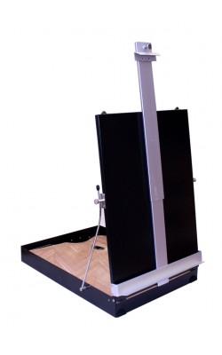 Этюдник алюминиевый без ножек, размер 34,5х44х9 см, с палитрой