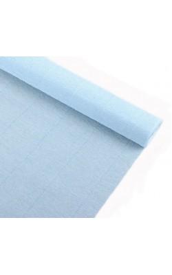 Бумага гофрированная, 50*250 см, 140 г/м2, нежно-голубая, 959