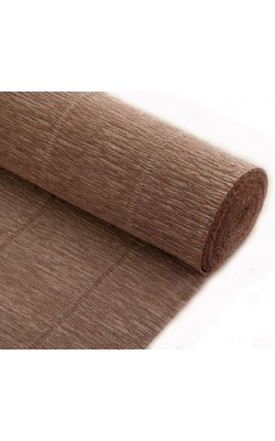 Бумага гофрированная, 50*250 см, 180 г/м2, кварцевая (серая), 604