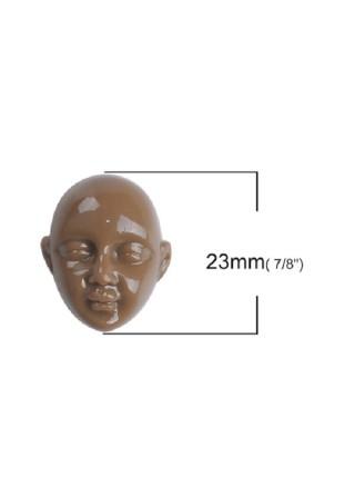 Лицо, смола, цвет коричневый, 23*20 мм, 3 шт/уп
