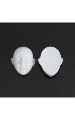 Лицо, смола, цвет белый, 23*20 мм, 3 шт/уп