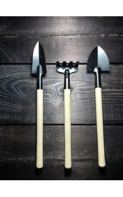 Набор садовый, мини, 3 предмета, 17-22*4 см
