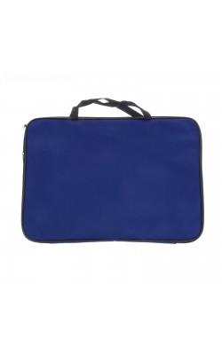 """Папка """"Calligrata"""", с ручками, А3, 475*340*20 мм, текстиль, синий"""