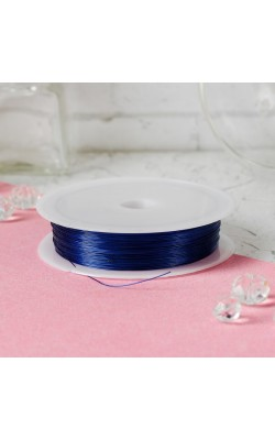 Проволока для бисероплетения, синий, d=0,3 мм, 30 м