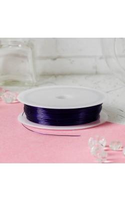 Проволока для бисероплетения, фиолетовый, d=0,3 мм, 30 м