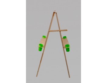 """Мольберт """"Хлопушка"""" двухсторонняя h=140 с полочкой для стаканчиков. арт20-08"""