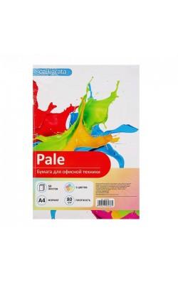 """Бумага цветная """"Calligrata"""", А4, 80 г/м2, 5 пастельных цветов, 50 л"""