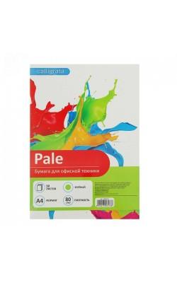 """Бумага цветная """"Calligrata"""", А4, 80 г/м2, зеленая пастельная, 50 л"""