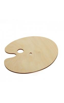 Палитра деревянная, овальная №4, 21*24,5 см