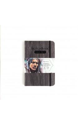 """Скетчбук для графики """"Малевичъ"""" GrafArt, Dark Wood, 9,5*14,5 см, 150 г/м2, слоновая кость, 80 л"""