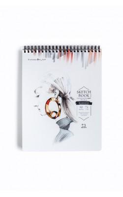 "Скетчбук для маркеров ""Млевичъ"" Sketch, 19*24 см, 75 г/м2, 80 л"
