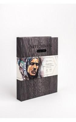 """Скетчбук для графики """"Малевичъ"""" GrafArt, Dark Wood, 14,5*19 см, 150 г/м2, слоновая кость, 80 л"""