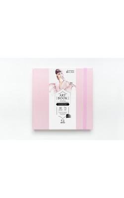 "Скетчбук для маркеров ""Малевичъ"" Fashion, 15*15, 75 г/м2, перламутровая, 80 л, розовый"
