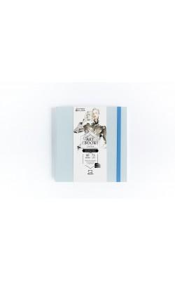 "Скетчбук для маркеров ""Малевичъ"" Fashion, 15*15, 75 г/м2, перламутровая, 80 л, лазурный"