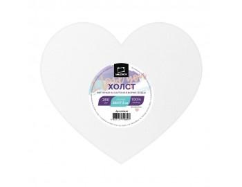 """Холст на картоне """"Малевичъ"""" в форме сердца, 20х17,5 см"""