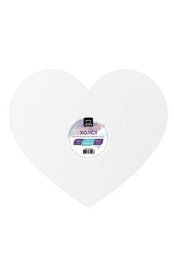 """Холст на картоне """"Малевичъ"""" в форме сердца, 30х26,25 см"""