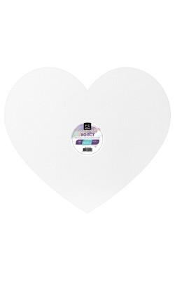 """Холст на картоне """"Малевичъ"""" в форме сердца, 40х35 см"""