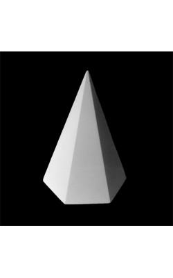 Пирамида шестигранная, гипс