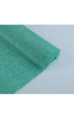 Бумага гофрированная, 50*250 см, 180 г/м2, тиффани зеленая, 17E/4