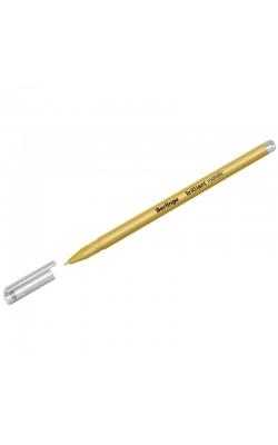 "Ручка гелевая ""Berlingo"" Brilliant Metallic, золото металлик, 0,8 мм"