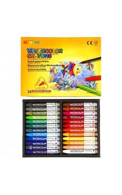 """Акварельные мелки """"Mungyo"""" Watercolor Crayons Triangular Shaped, трёхгранные, 24 цвета"""