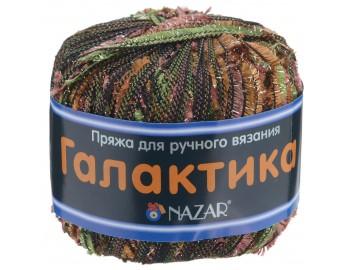 """Товар Пряжа NAZAR """"Галактика"""" 50гр., 125м. (80% полиэстер, 20% люрекс) (2001 красный/коричневый/зеленый)NAZAR"""