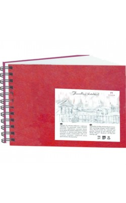 """Блокнот для эскизов """"Travelling sketchbook"""", А5, 130 г/м2, 80 л, красный"""