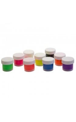 Краски по ткани флуоресцентные 9 цветов 15 мл