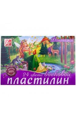 """Пластилин мягкий (восковой) """"Фантазия"""", 24 цвета"""
