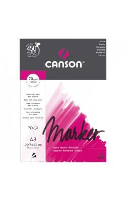 """Альбом для маркера """"Canson"""" Marker Layout, 70 г/м2, 29,7*42 см, 70 л, экстра гладкая"""