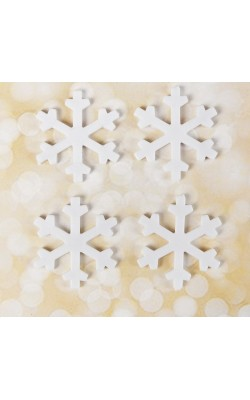 """Основа для творчества и декора """"Снежинка"""" набор 4 шт, размер 3,4 см, цвет белый"""