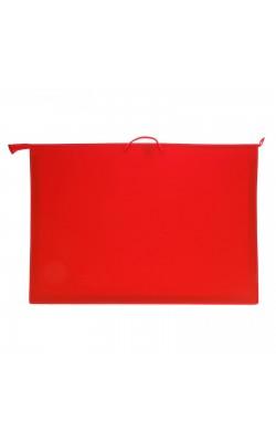 Папка с ручками, А1, 900*655*50 мм, молния сверху, пластик, красная