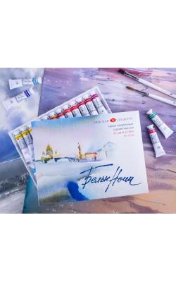 """Набор акварельных красок """"Белые Ночи"""", 24 тубы по 10 мл, пластиковый коррекс в картонной коробке"""